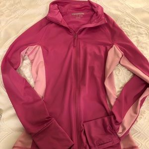 Pink / light pink full zip jacket